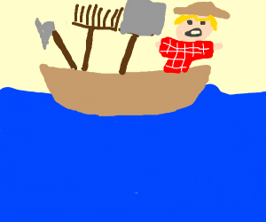 Farmer got stuck on a boat!!