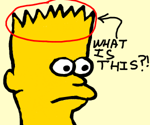 What is Bart Simpson's hair?