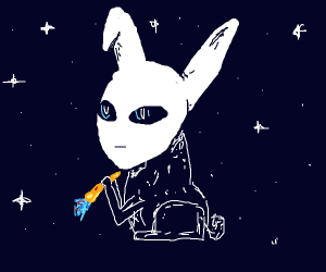 Alien but also a bunny