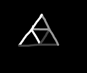 White gray and black triangle symbol