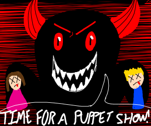 Human child puppets for demon