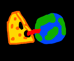 cheese licking earth