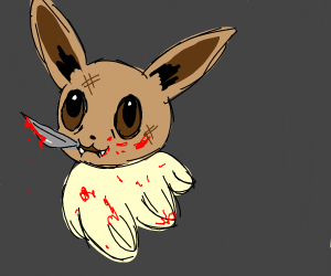 psycho eevee with a knife