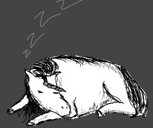 Unicorn Sleeping
