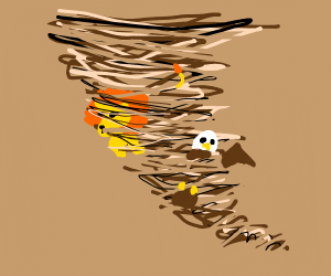 Lion & Eagle caught in a tornado