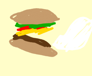 Talking burger