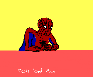 spiderman bad guy meme
