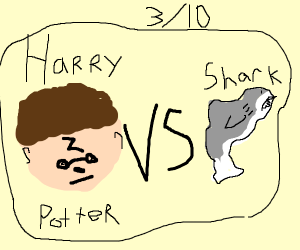 harry potter vs a shark-dolphin