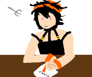 Narancia is gonna get stabbed with a fork