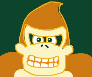 Donkey kong trying to be buff