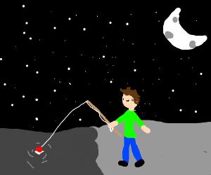 Fishing in the night