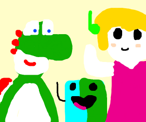 Yoshi forms a band with Drawception users