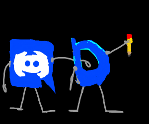 discord and her friend drawception