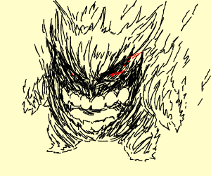 (Pokemon)Gengar but with human teeth