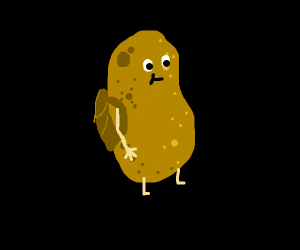 A potato at school