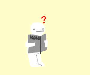 Fisherperson stares at paper bag in confusion