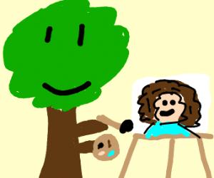 Happy tree painting Bob Ross