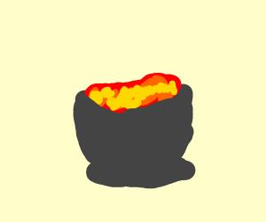 a pot of lava