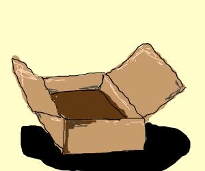 empty cardboard box :(