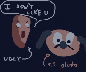 ugly dot doesn't like pluto T.T