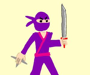 Angry purple ninja