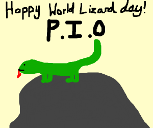 Happy world lizard day(pass it on)