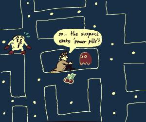 Sherlock Holmes in the Pac-Maze