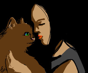 kissing your cat goodnight