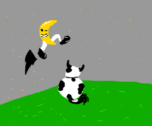 And the moon jumped over the cow