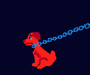 poor doggy in chains