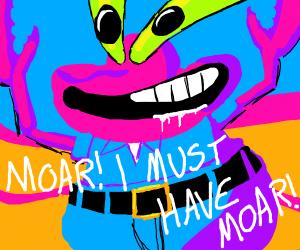 Mutated Mr Krabs wants MOAR
