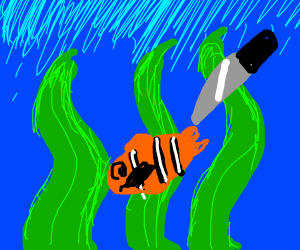 Knife is going to stab Nemo