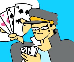jo jo in a card match