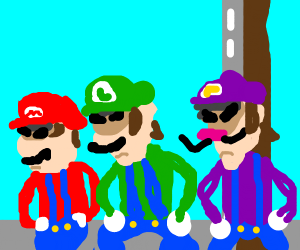 Mario and Luigi dancing