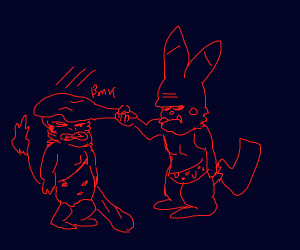 Old Style Pokemon Battle!