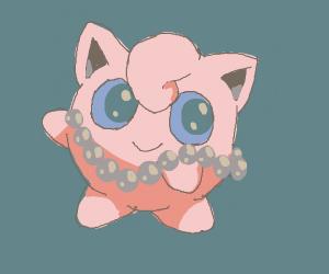 Jigglypuff wears pearls