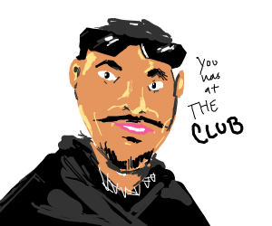 you was at the club meme