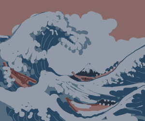 The Great Wave off Kanagawa (Hi indigo)