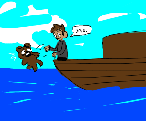 throwing a the bear of the ship