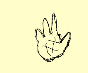 Hand without the index finger