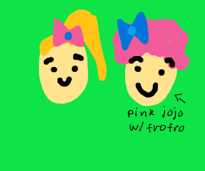 pink jojo and jojo with a frofro