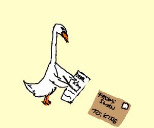 Swan writing to King