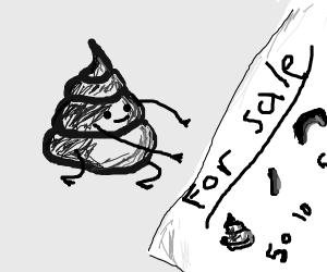 Poop selling its goods
