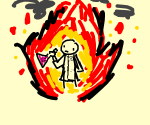 Scientist in a Fire