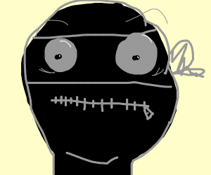 A ninja's mouth is zippered shut