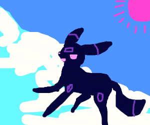 Umbreon navigates the mountains
