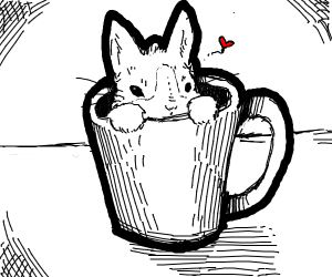 Rabbit in a coffee cup