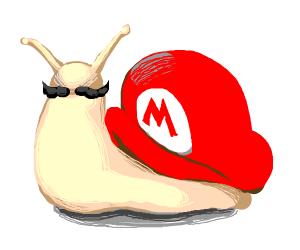 Mario as a snail