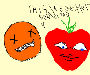 rip annoyin orange, apple comments on weather