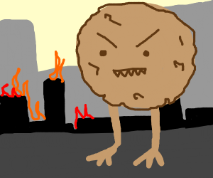 giant cookie... attacks the city!!
